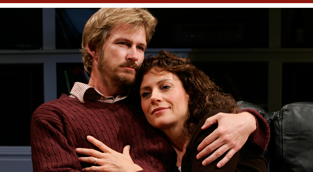 "Bill Brochtrup and Natacha Roi in The Real Thing"" at South Coast Repertory. Photo by Henry DiRocco"