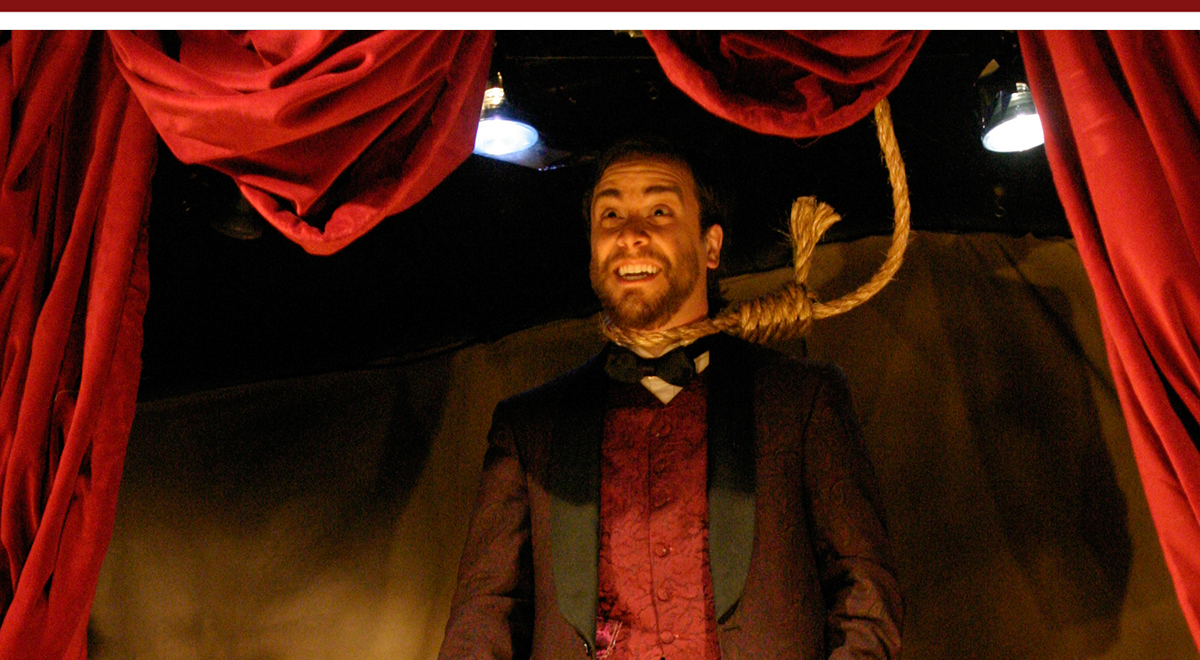 Philip D'Amore in 'Assassins' at the Meta Theatre. Photo by Ed Krieger