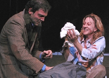 Silas Weir Mitchell and Kate A. Mulligan in 'Women of Lockerbie' at Actor's Gang