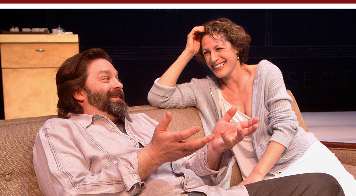 Jonathon Goldstein and Stacie Chaiken in Master of the House at the Laguna Playhouse, photo by Ed Krieger