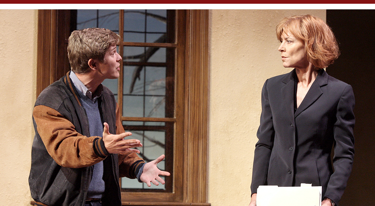 Matt Czuchry and Christine Lahti in Wendy Wasserstein's 'Third' at the Geffen Playhouse