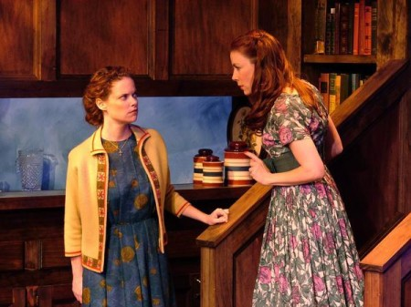 Ann Noble and Stephanie Stearns in Noble's 'And Neither Have I Wings to Fly' at Road Theatre.