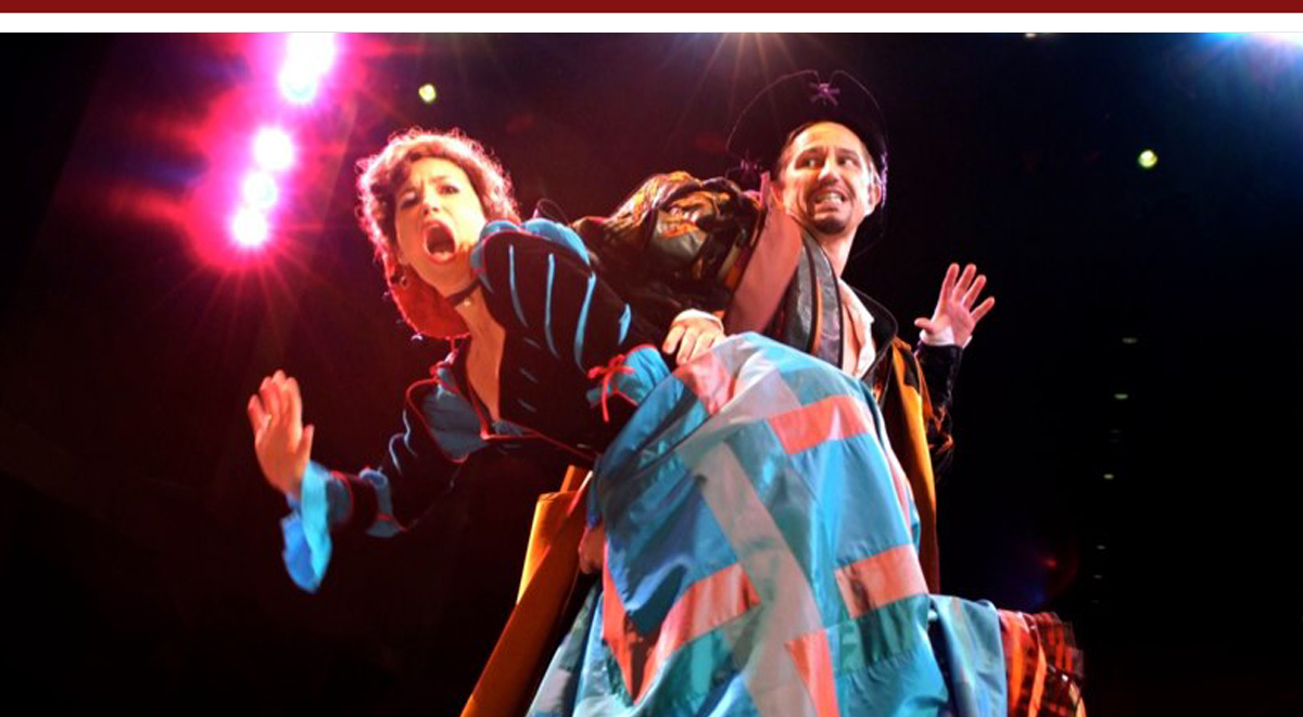 Michelle Duffy and Kevin Bailey in 'Kiss Me Kate' at the South Bay Civic Light Opera