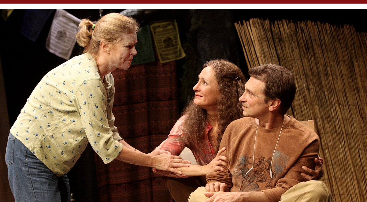 JoBeth Williams, Laurie Metcalf and Dennis Boutsikaris  in 'The Quality of Life' by Jane Anderson at the Geffen Playhouse