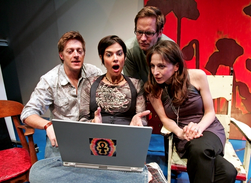 Kevin Rahm, Nancy Bell, Marin Hinkle, and Matt Letscher in What They Have' at South Coast Repertory. Photo by Henry DiRocco