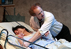 Greg Watanabe and Raphael Sbarge in 'The Happy Ones.' at South Coast Repertory. Photo by Henry DiRocco
