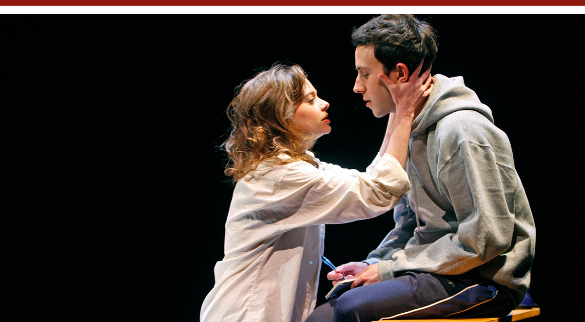 Kate Rylie and Tasso Feldman in 'Goldfish' at South Coast Repertory. Photo by Henry DiRocco