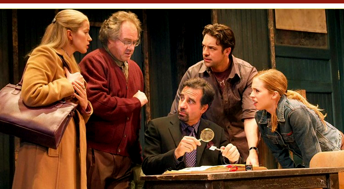 Monette Magrath, John Billingsley, Ray Abruzzo, Chris L. McKenna, and Kirsten Kollender in Teresa Rebeck's 'Mauritius' at Pasadena Playhouse. Photo by Craig Schwartz