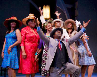The cast of 'Crowns' at Pasadena Playhouse. Photo by Craig Schwartz
