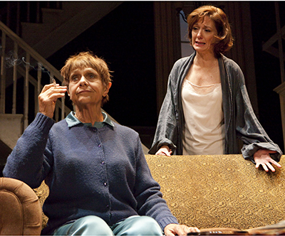 Estelle Parsons and Shannon Cochran in 'August: Osage County' by Tracy Letts at the Ahmanson Theatre. Photo Credit: © Robert J. Saferstein
