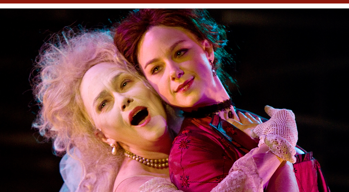 Deborah Strang and Jaimi Paige in 'Great Expectations' at A Noise Within. Photo by Craig Schwartz