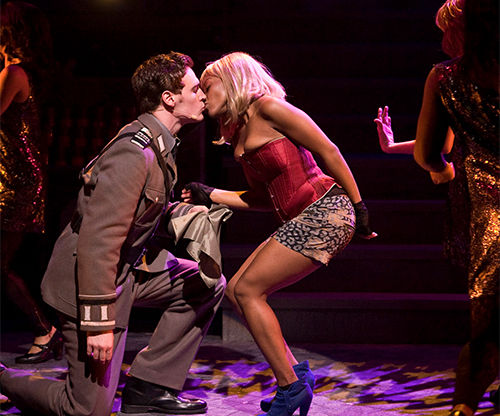 Erich Bergen and Angela Wildflower Polk in a scene from 'Venice' at the Kirk Douglas Theatre. Photo by Craig Schwartz