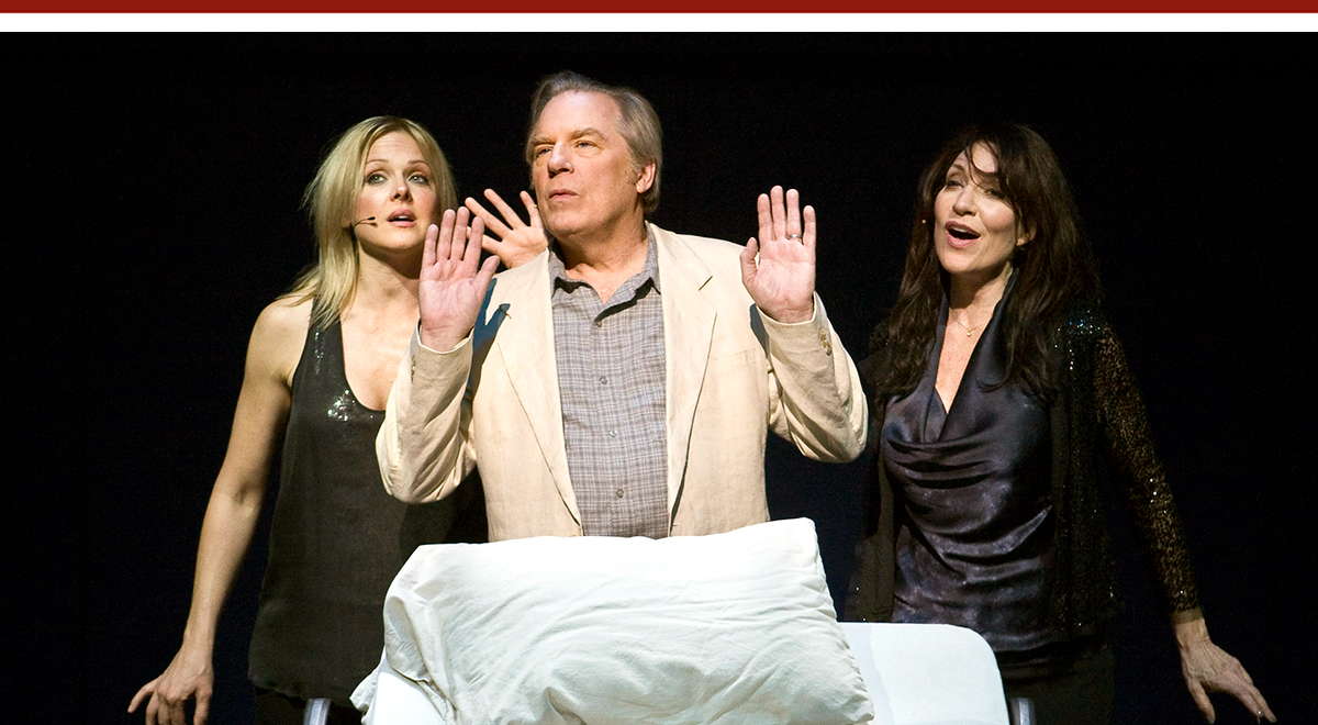 Storm Large, Michael McKean and Katey Sagal in Randy Newman's 'Harps and Angels.' Photo by Craig Schwartz