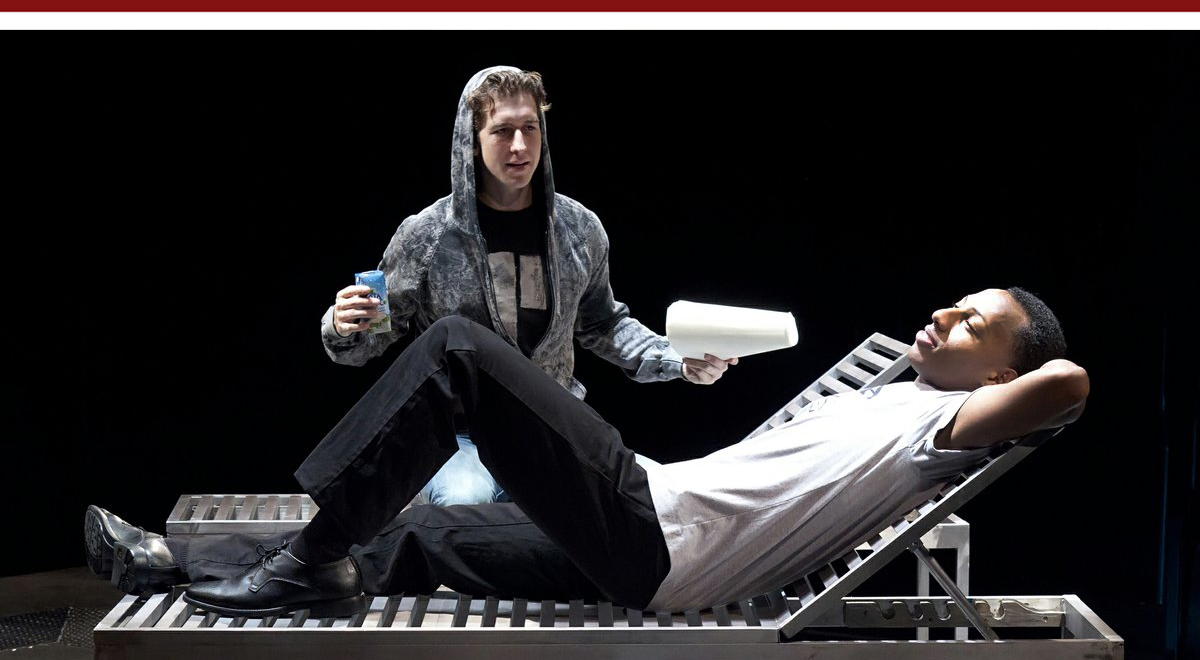Evan Todd as Aaron and Brandon Gill as Iskinder in Jonathan Caren's The Recommendation at The Old Globe