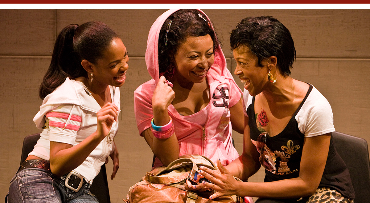 Angela Lewis, Nikiya Mathis and Cherise Boothe in Kirsten Greenidge's 'Milk Like Sugar' at the La Jolla Playhouse. Photo by Craig Schwartz