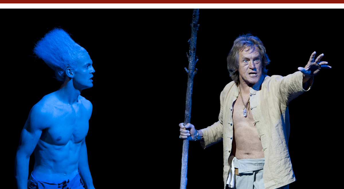 <h6>Ben Diskant and Adrian Sparks in 'The Tempest' at The Old Globe. Photo by Henry DiRocco</h6>