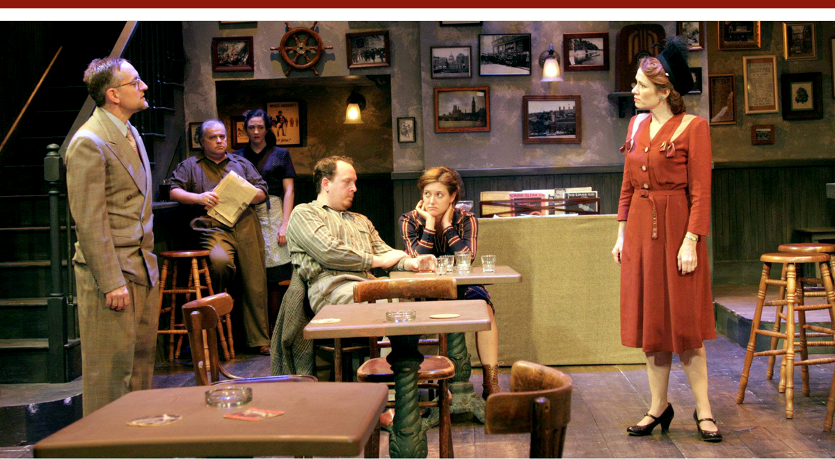 Peace in our Time at the Antaeus Theatre Company, JD Cullum at left.