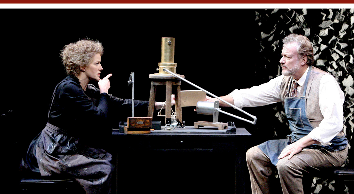 Anna Gunn and John de Lancie in Radiance at the Geffen Playhouse. Photo by Michael Lamont