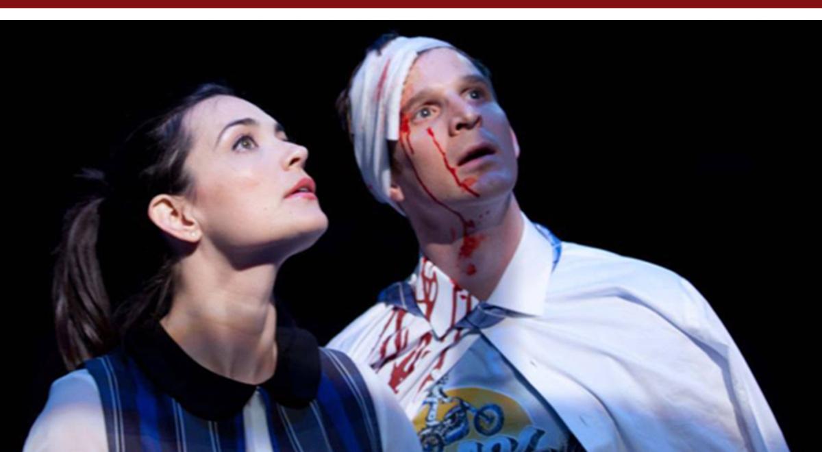 Jules Willcox and Brad Fleischer in Rajiv Joseph's Gruesome Playground Injuries at Rogue Machine Theatre