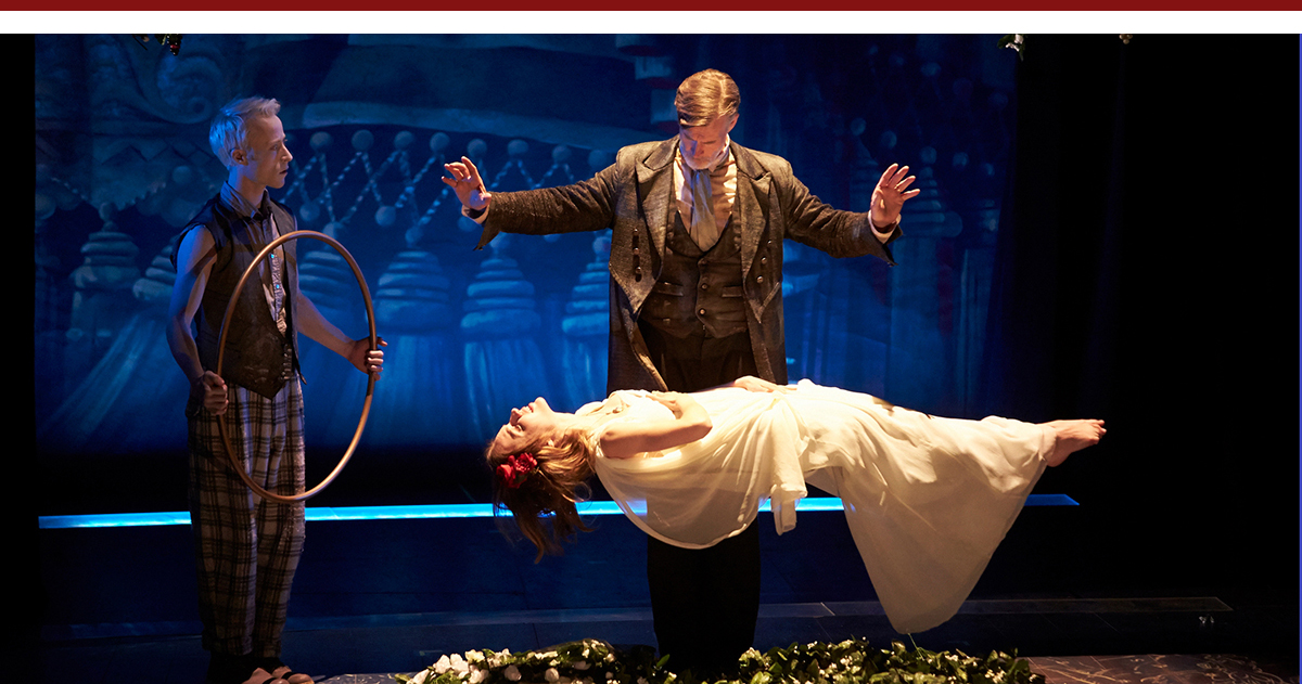 Nate Dendy, Tom Nelis, Charlotte Graham in The Tempest