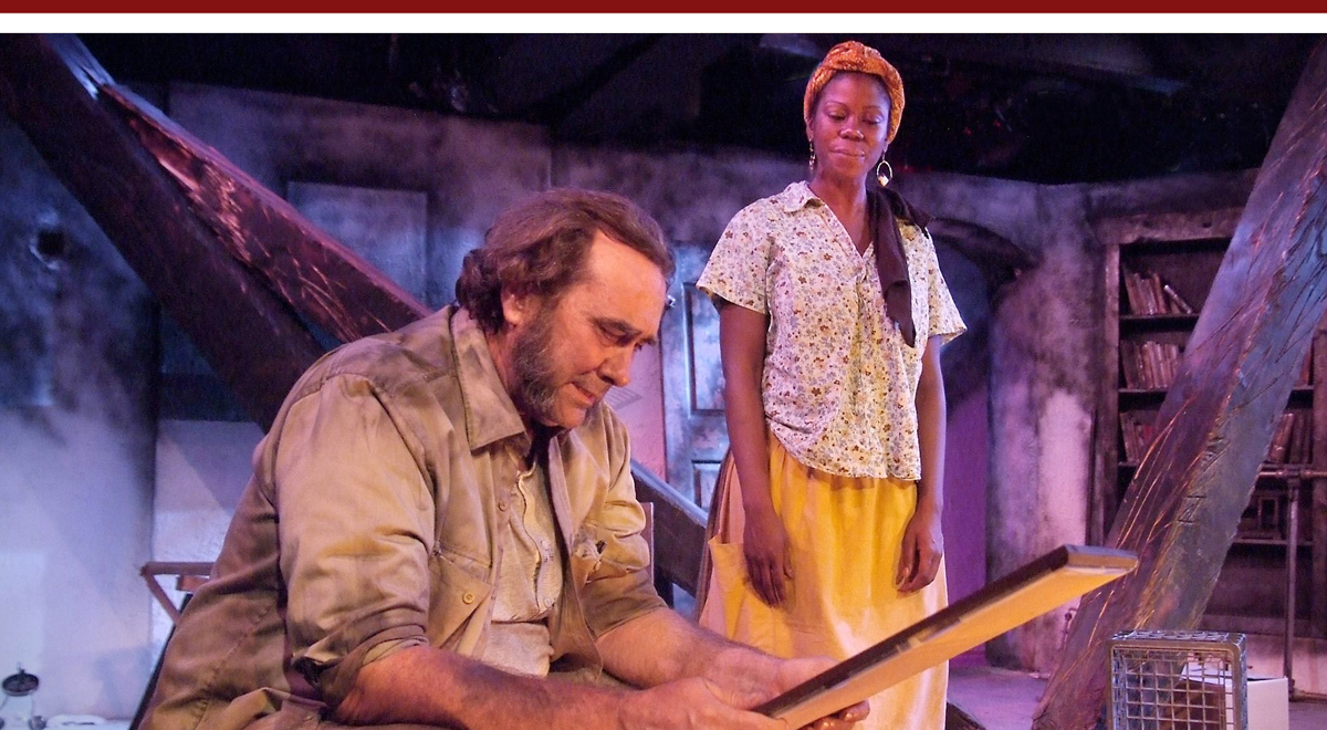 Morlan Higgins and Julanne Chidi Hill in The Blue Iris at the Fountain Theatre