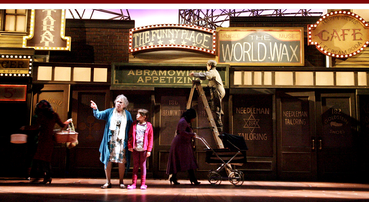 Angela Paton and Grace Kaufman in Coney Island Christmas at the Geffen Playhouse