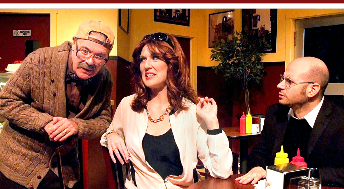 Phil Proctor, Rachel Boller, and Jeffrey Landman in Sam Bobrick's L.A. Deli