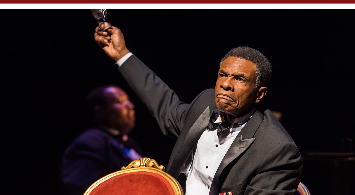 David Keith as Paul Robeson in Paul Robeson at the Ebony Repertory Theatre with Byron J. Smith