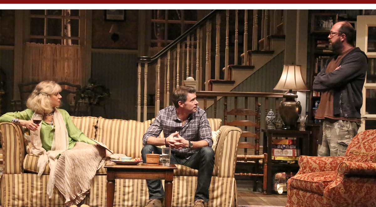 Blythe Danner, Scott Foley and Eric Lange in The Country House at the Geffen Playhouse