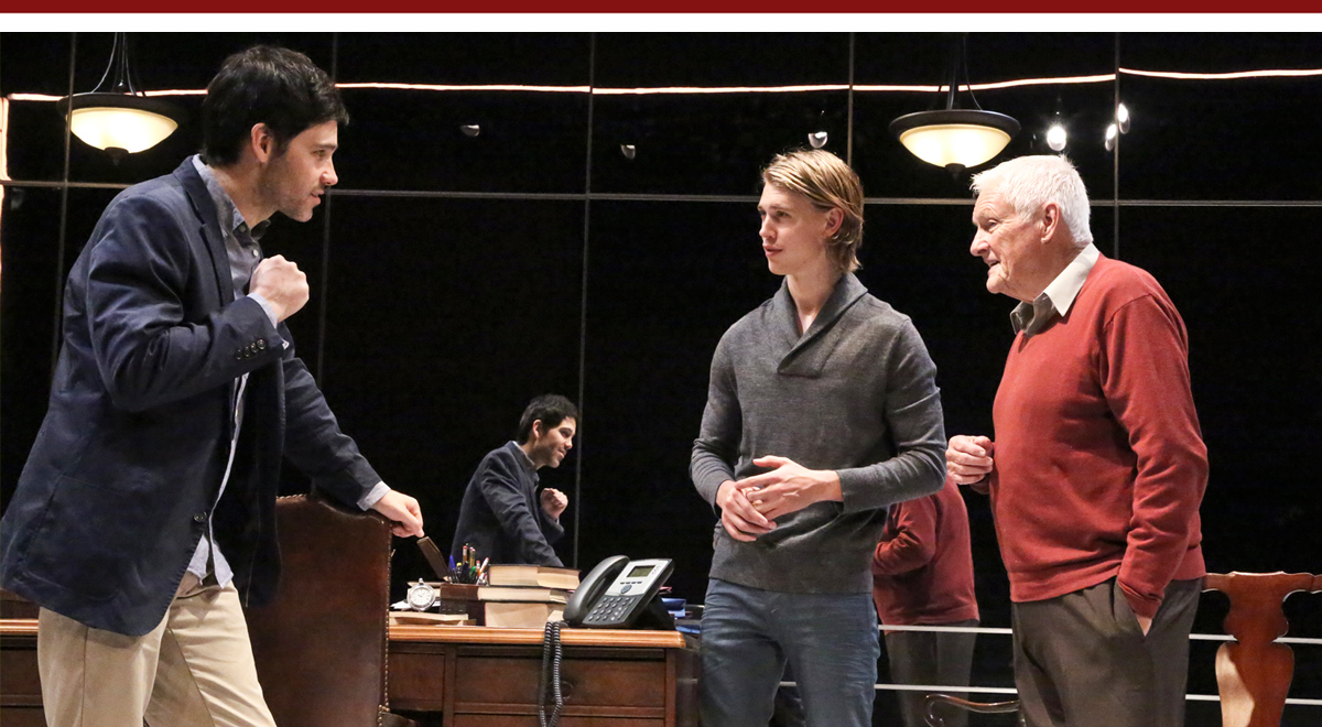 David Clayton Rogers, Austin Butler, Orson Bean in The Death of the Author at the Geffen Playhouse