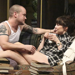 Stephen Louis Grush and Rebecca Pidgeon in 'Sex with Strangers' at the Geffen Playhouse. Photo by Michael Lamont