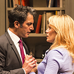 Hari Dhillon and Emily Swallow in in Ayad Akhtar's Pulitzer-winning play 'Disgraced' at the Mark Taper Forum. Photo by Craig Schwartz.
