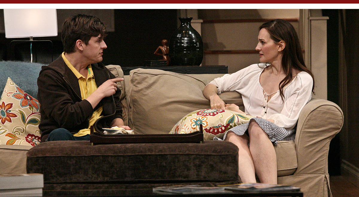 Seamus Mulcahy and Deborah Puette in 'Rabbit Hole' at the La Mirada Theatre for the Performing Arts