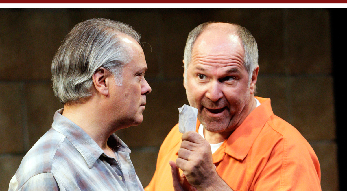 Matthew Arkin and John Kapelos in The Prince of Atlantis at South Coast Repertory, photo by Henry DiRocco