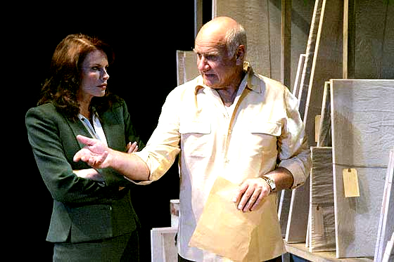 Roma Downey and Peter Michael Goetz in 'A Picasso' at Geffen Playhouse
