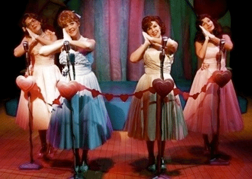 Kim Huber, Bets Malone, Kirsten Chandler and Julie Dixon Jackson in The Marvelous Wonderettes