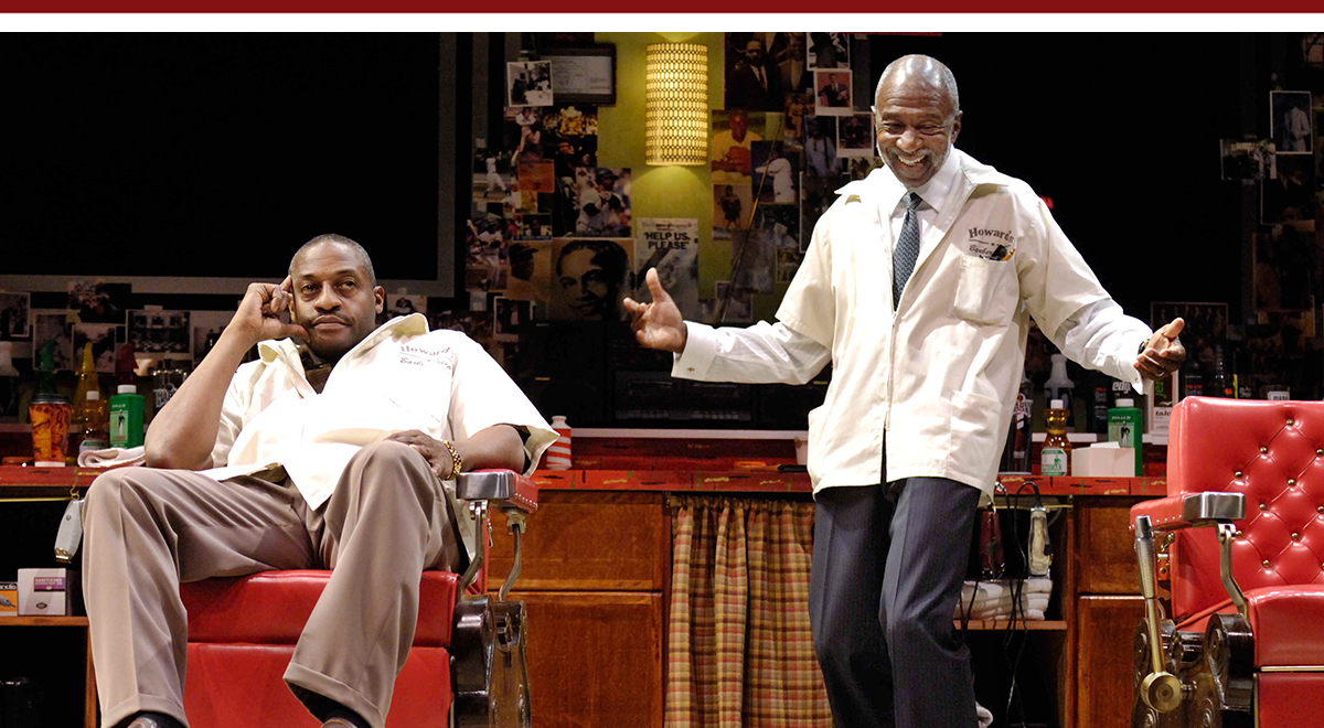 Darryl Alan Reed and Adolphus Ward in Charles Randolph-Wright's 'Cuttin' Up' at the Pasadena Playhouse