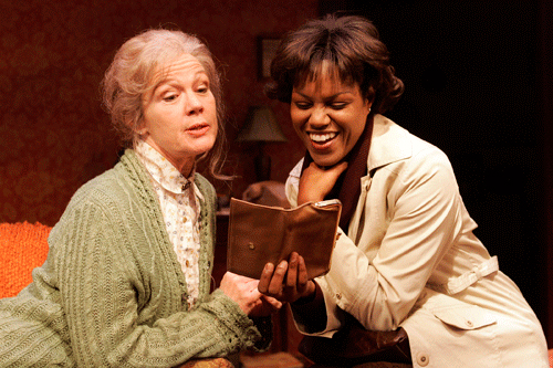 Linda Gehringer and Toi Perkins in Julia Cho's The Piano Teacher at South Coast Repertory