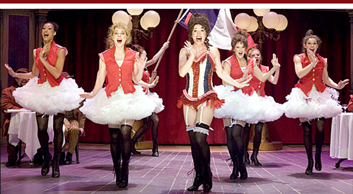 Michelle Duffy, center, in 'Can-Can' at Pasadena Playhouse, photo by Craig Schwartz
