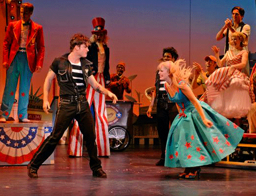 James Snyder and Elizabeth Stanley in 'Cry-Baby' at La Jolla Playhouse.