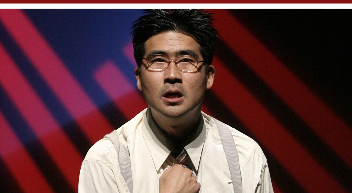Ryan Yu in 'Dawn's Light: The Journey of Gordan Hirabayashi' at East West Players. Photo by Michael Lamont