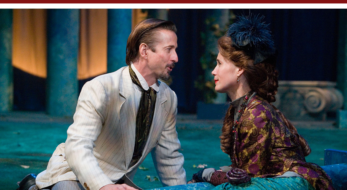 Bruce Turk and Jill Hill in J.M. Barrie's 'Dear Brutus' at A Noise Within. Photo by Craig Schwartz