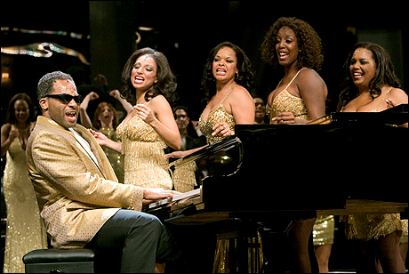 'Ray Charles Live!' at the Pasadena Playhouse, with Brandon Victor Dixon as Charles.