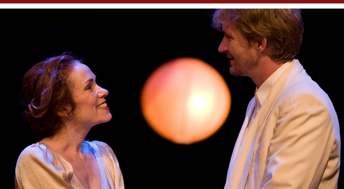 Emily Chase and Bill Brocktrop in 'Tonight at 8:30 (Part 1)' at Antaeus Theatre. Photo by Michelle K. Short