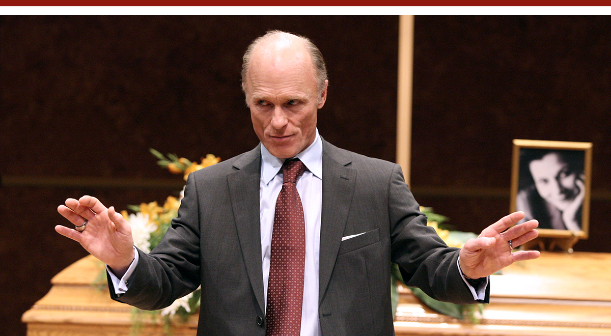 Ed Harris in 'Wrecks' at the Geffen Playhouse. Photo by Michael Lamont