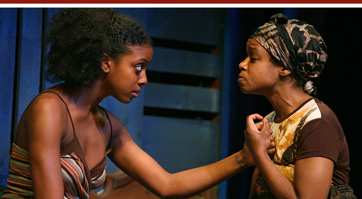 Condola Rashad, Quincy Tyler Bernstine in Lynn Nottage's 'Ruined' at the Geffen Playhouse. Photo by Chris Bennion