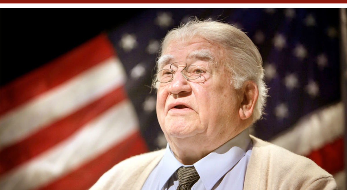 Ed Asner as FDR at the Pasadena Playhouse. Photo: The Theater Guild