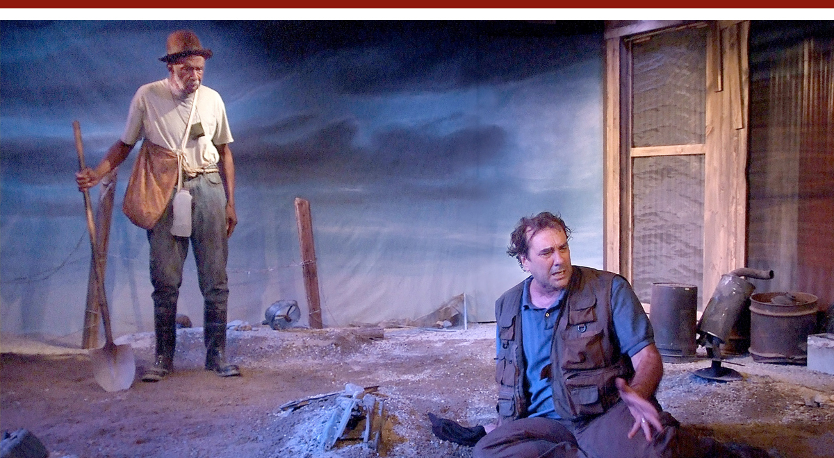 Adolphus Ward and Morlan Higgins in 'The Train Driver' at the Fountain Theatre. Photo by Ed Krieger