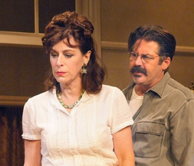 Jane Kaczmarek and Stephen Caffrey in 'The Autumn Garden' at Antaeus Theatre Company. Photo by Ed Krieger