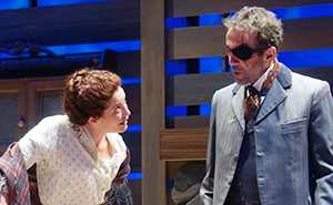 Paige Lindsey White and Daniel Reichert in SCR's 2015 production
